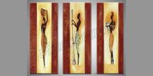 Africká žena, maľované ručne