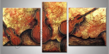Obraz maľovaný ručne, Hudobné nástroje