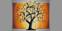 Ohnivý ker, ručne maľovaný obraz