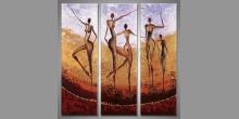 Ručne maľovaný obraz, Päť postáv