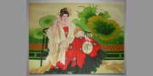 Čínska žena, maľované ručne