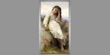 Dievča s hruškou, umelecky obraz
