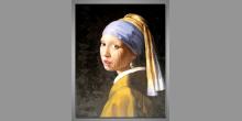 Dievka s perlou, Jan Vermeer, umelecky obraz