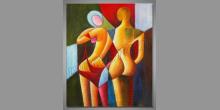 Dvaja, ručne maľované