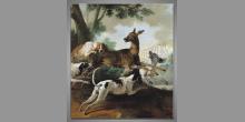 Maľovaný obraz ručne, Na poľovačke