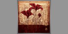 Červené kvety,obraz ručne maľovaný