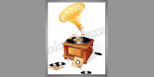 Digitálne tlačený obraz, Gramofón a platne
