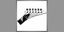 Digitálne tlačený obraz, hlava gitary