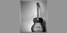 Gitara v šedom, obraz digitálne tlačený