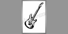Guitar, digitálne tlačený obraz