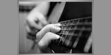 Playing guitar, obraz tlačený