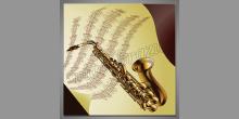 Saxofón a noty, digitálne tlačený obraz