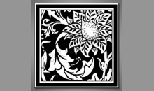 Kvet-negatív, obraz digitálne tlačený
