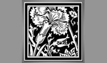 Negatív rastliny, obraz digitálne tlačený