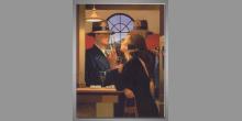 Pri pulte v bare, obraz digitálne tlačený